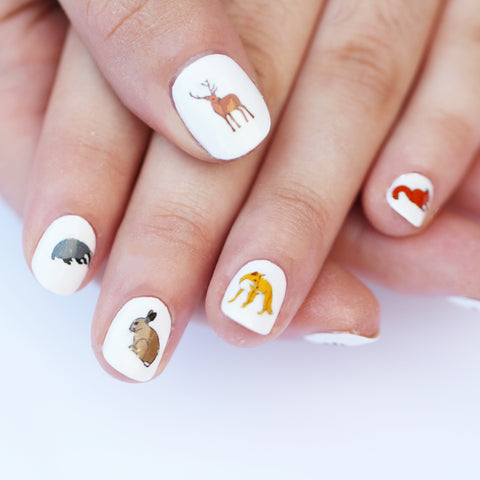 Woodland Animal Nail Art Transfers