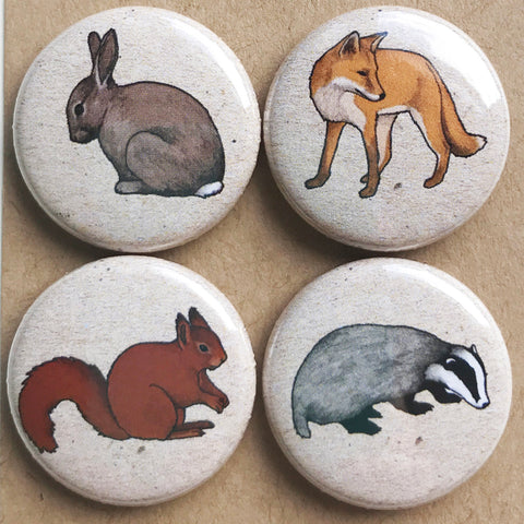 Woodland Animal Fridge Magnets