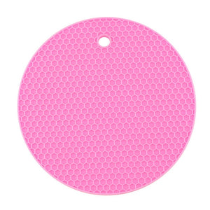 18/14cm Round Heat Resistant Silicone Mat Drink Cup Coasters Non-slip Pot Holder Table Placemat Kitchen Accessories Onderzetters