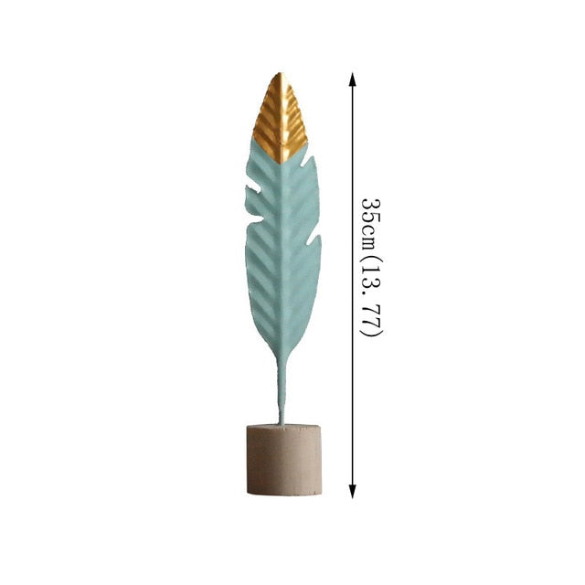 Modern Decoration Table Wooden Feather