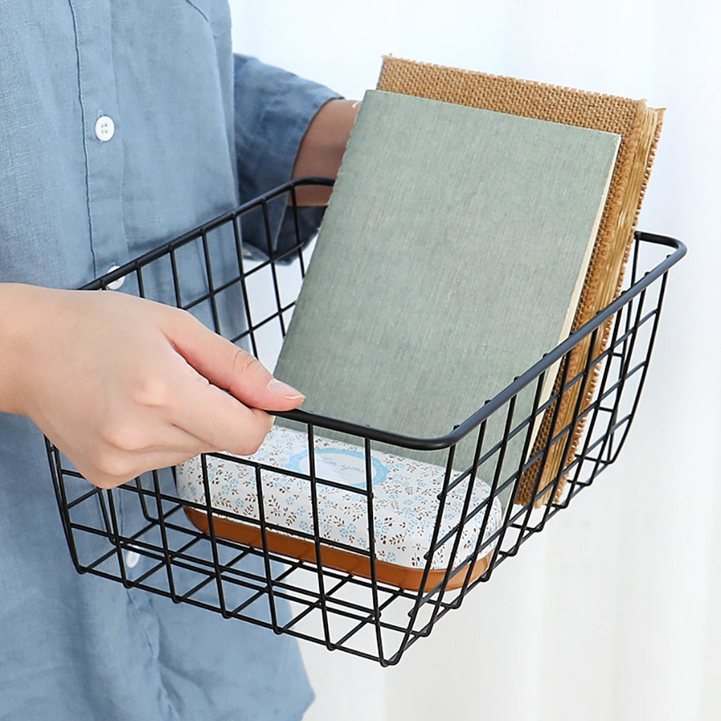 Iron Wire Storage Basket Organizer