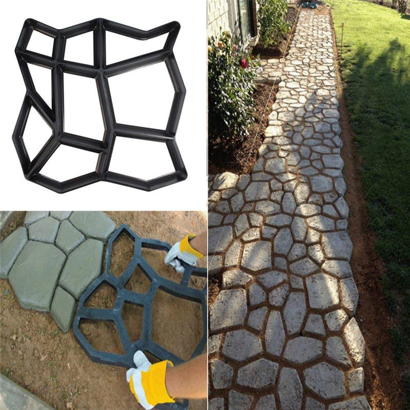DIY Brick Plastic Path Maker Mold