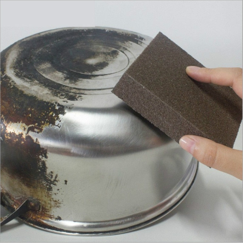 1/12PCS Sponge  Magic Eraser for Removing Rust Cleaning Cotton Kitchen Gadgets Accessories Descaling Clean Rub Pot Kitchen Tools