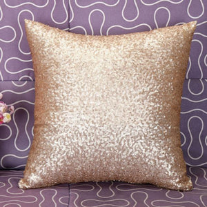 Solid Color Glitter Sequins Throw Pillow