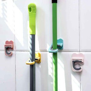Mop Broom Wall Mounted Holder