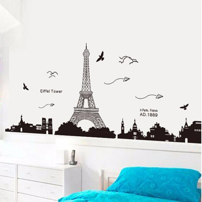 Eiffel Tower Mural Wall Sticker
