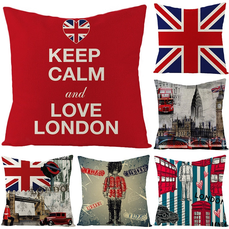British Flag Keep Calm Letter Cushion