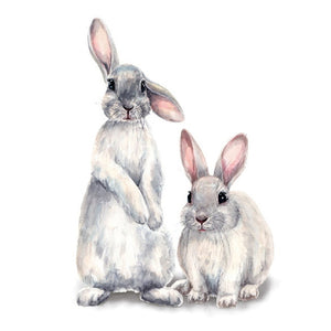 Two cute rabbits Wall sticker