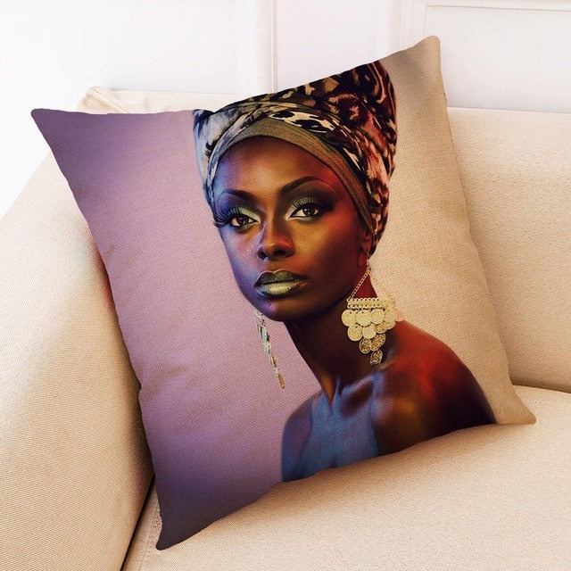 African Women Pillowcase Cover