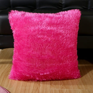Plush Sofa Lumbar Pillow Cover