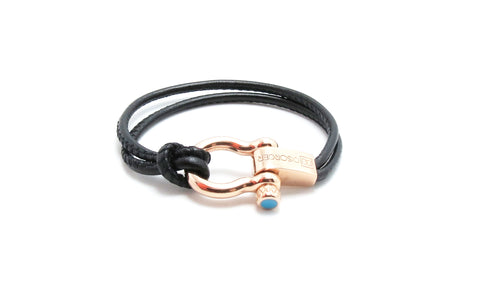 pulsera wave luxury leather