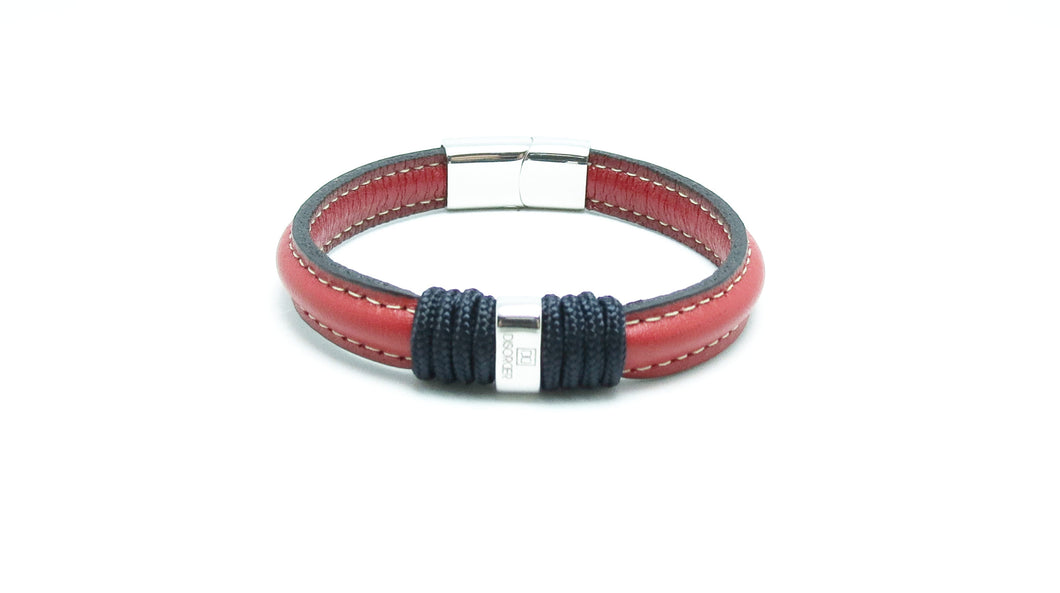 pulsera botavara leather roja