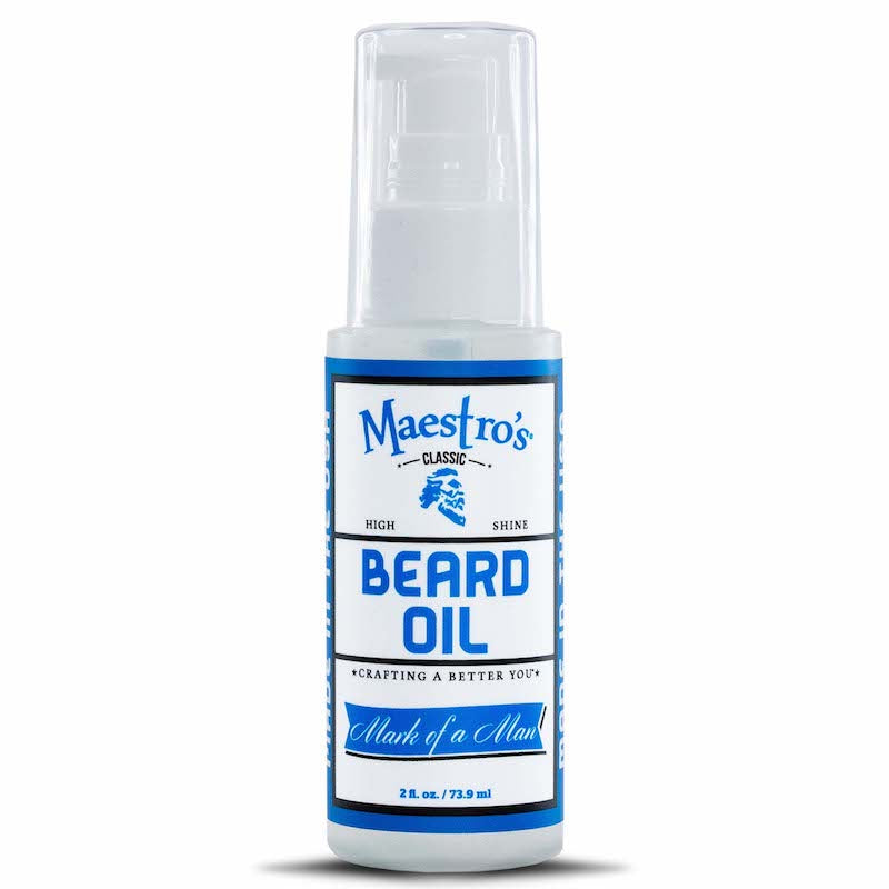 Maestro's Classic Beard Oil- for daily styling of your beard.