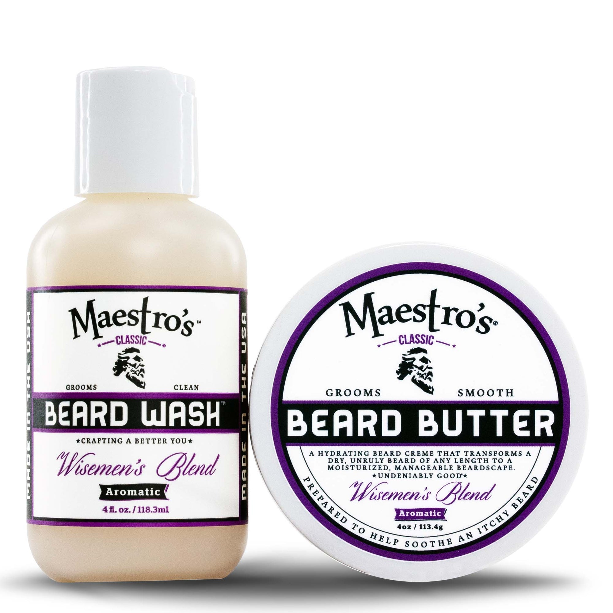 Maestro's Classic Wisemen's Blend beard care products