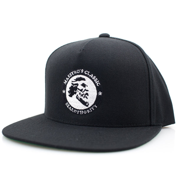 Maestro's Classic - BeardThority Black Snapback