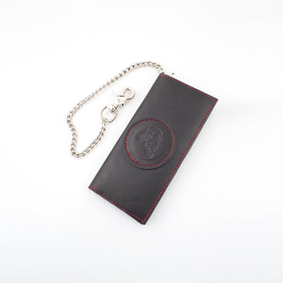 Anthony Spadafora Maestros Classic Leather Chain Wallet Black