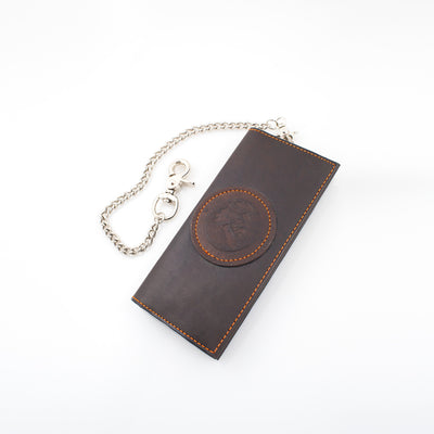 Anthony Spadafora Maestros Classic Leather Chain Wallet Brown
