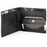 Maestro's Only- Full Size Wallet with Beard Comb