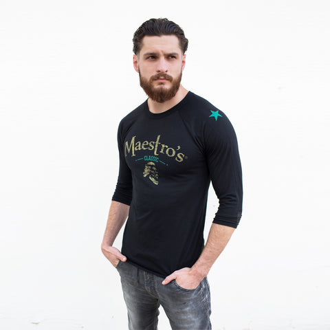 Anthony Spadafora Maestro Classic Speakeasy Baseball Tee black/teal