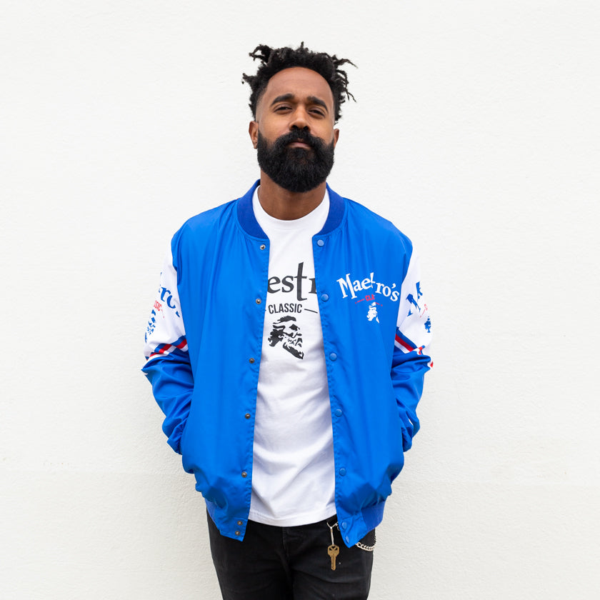 Maestro's Classic Chalk Line Jacket- Blue