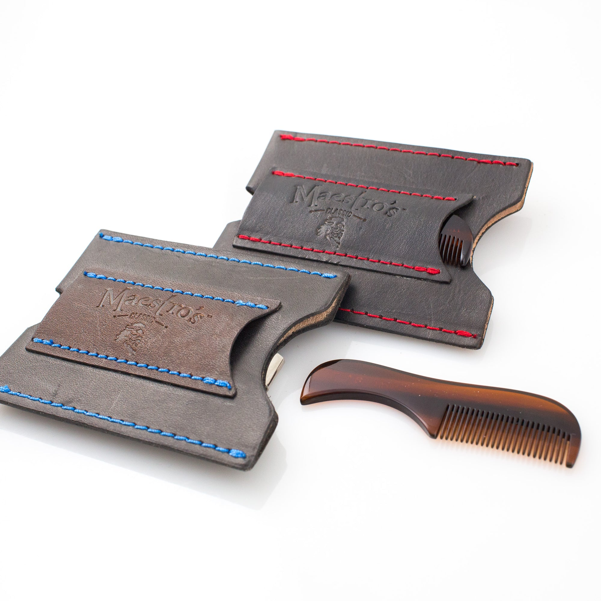 Maestro's Only - Minimalist Wallet with Stache Comb