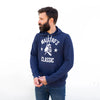 Maestro's Classic Navy Hooded Sweatshirt - White Logo
