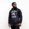 Maestro's Classic Black Hooded Sweatshirt - White Logo