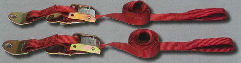 "1"" Motorcycle Tie Down Strap, Suspension Limiting Strap w/Cam Buckle & Pull-Tight /Press Release"