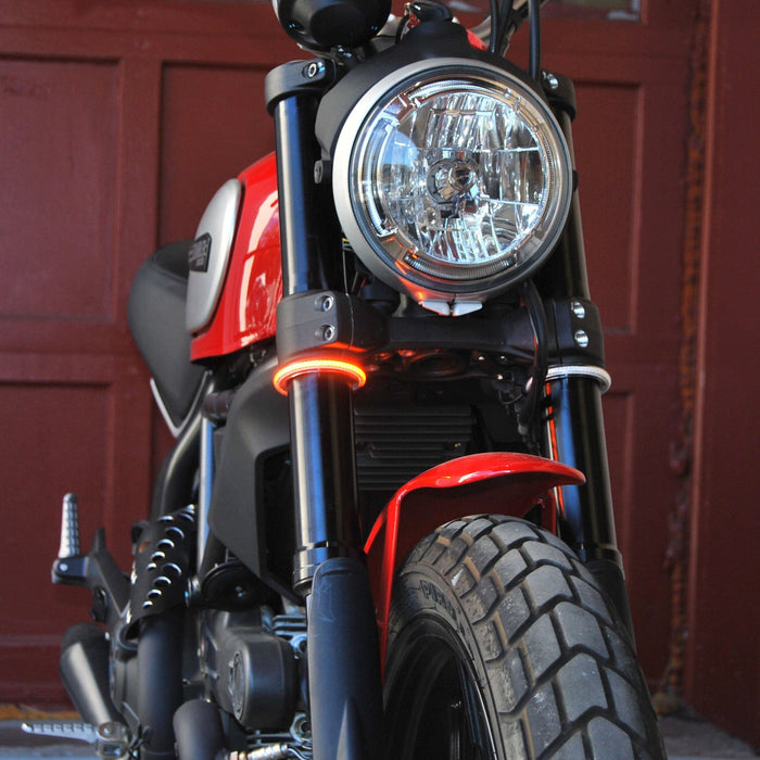 New Rage Cycles Fork Mounted Turn Signals