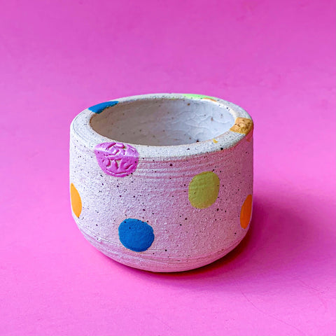 Polka Pup Mini Clay Cup
