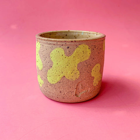 Lime Cow Splatter Cup