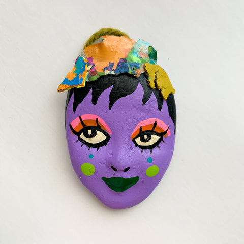Handpainted Mask Magnet 5/25