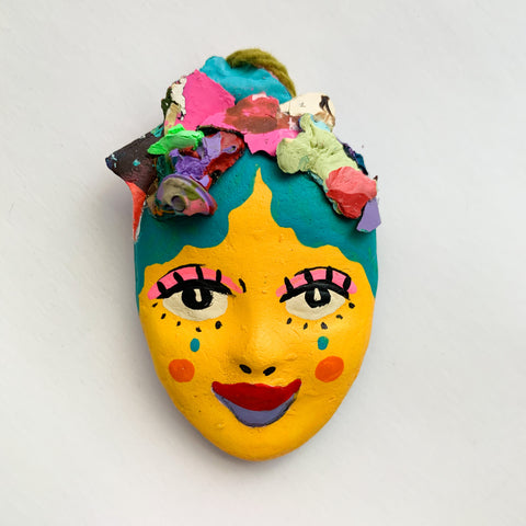 Handpainted Mask Magnet 7/25
