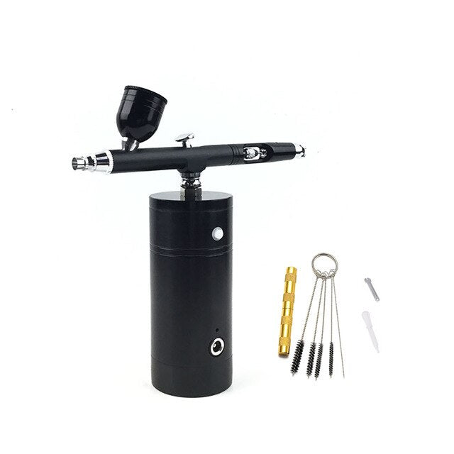 Wireless Airbrus Air Brush Pump Compressor Spray Gun Diy Toy Hobby Make Up Beauty Makeup Oxygen Bubble Therapy Injector Facial