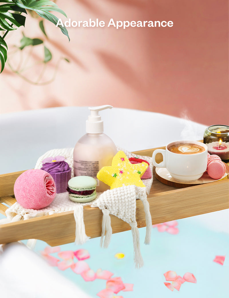 Bath Bombs 6pcs Gift Set Natural Essential Oil Aroma Bubble Bath