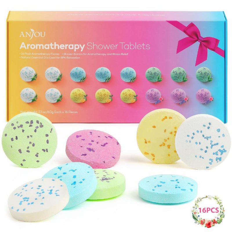 16-Piece Tablets Aromatherapy Bath Bombs with Pure Essential Oils