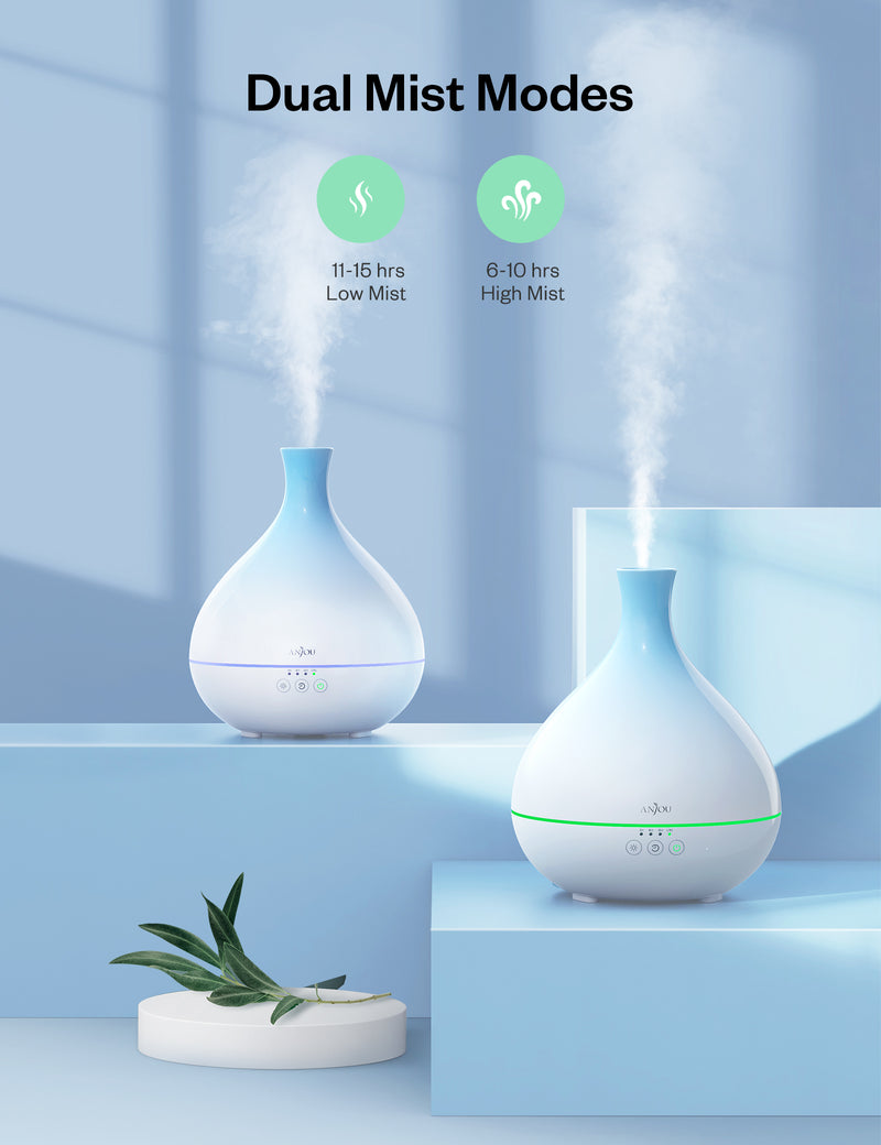 Essential Oil Diffuser 500ml Cool Mist Humidifier 12hrs Consistent Scent