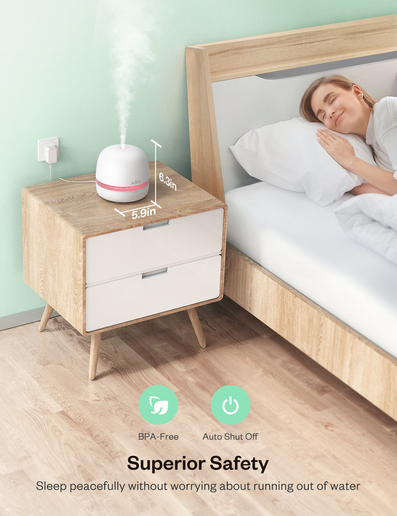300ml Ultrasonic Aroma Diffuser with Continuous Aromatherapy-Anjou