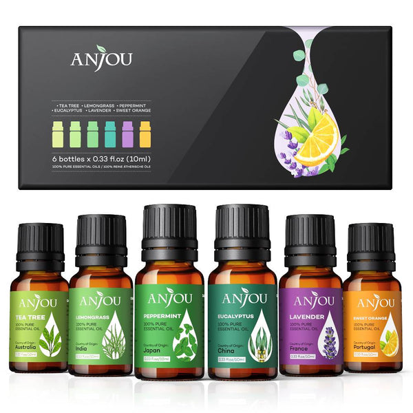 Aromatherapy Essential Oil Top 6 10ml Pure & Therapeutic Grade