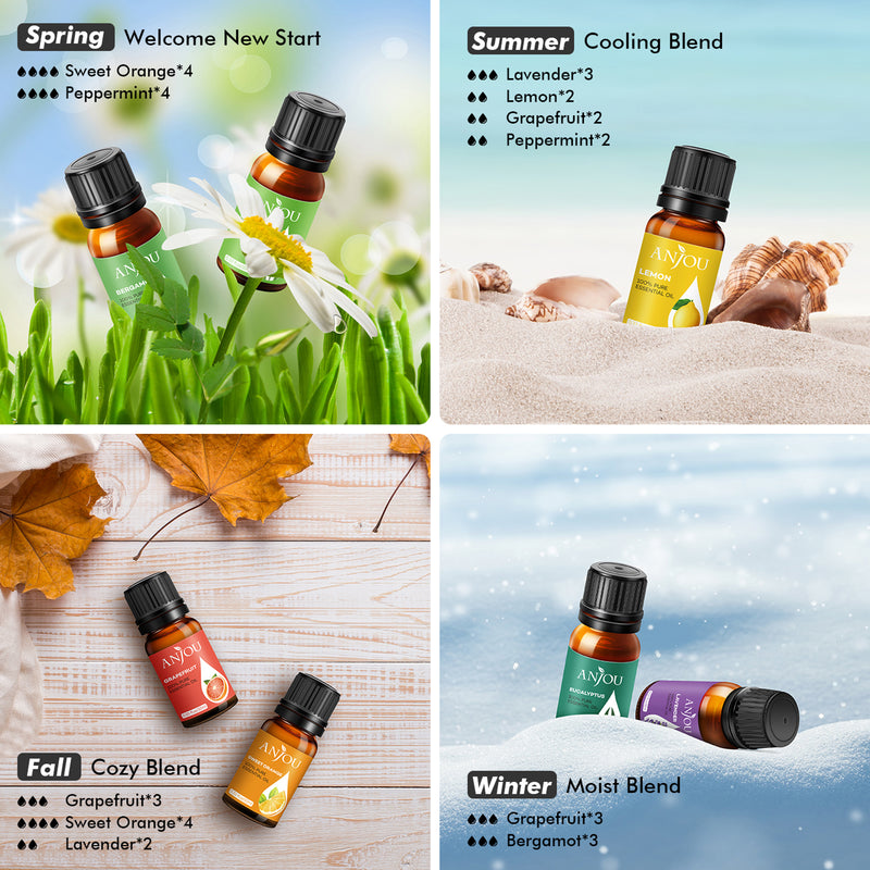 14 x10ml Aromatherapy Essential Oil Large Pure & Therapeutic Grade