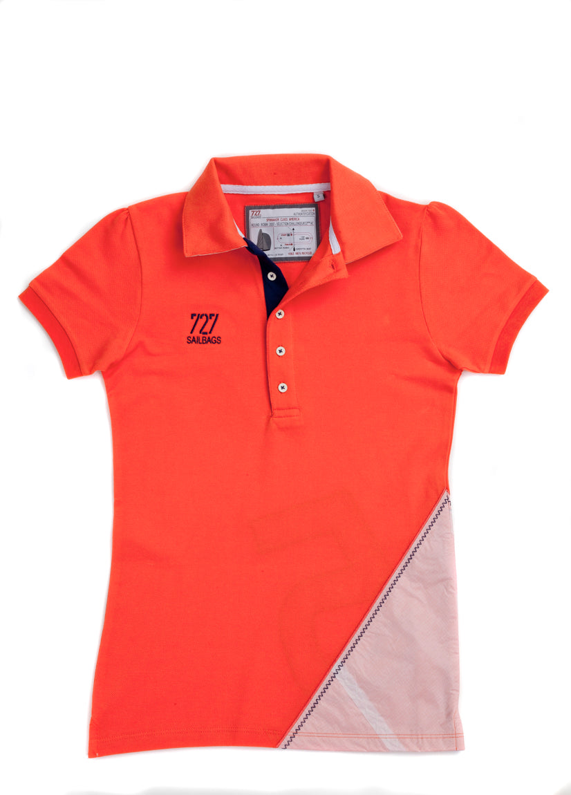 Women's Polo Shirt, Short sleeves, Red