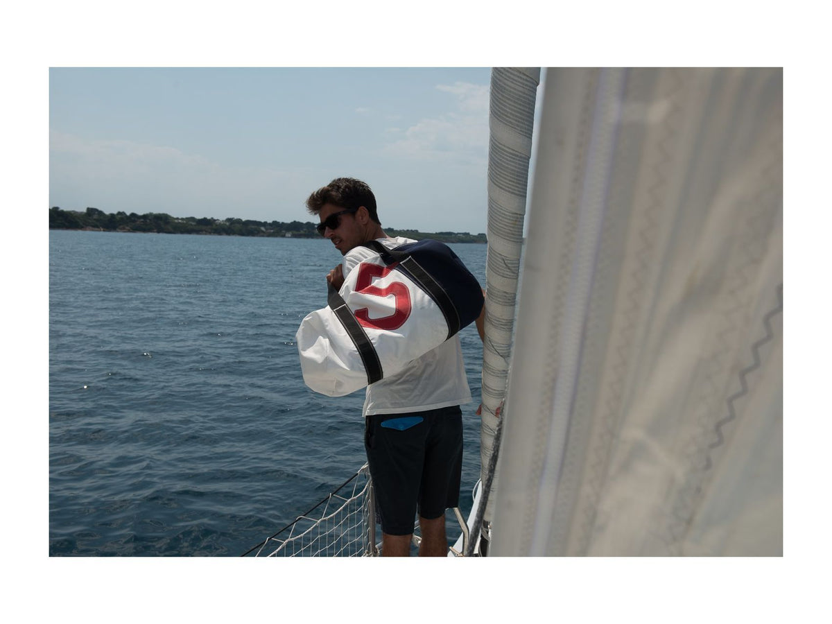 "Duffel Sports Bag ""Onshore"" Recycled Sail Gennaker"