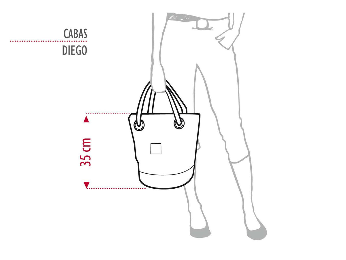 "Sports Bag ""Diego"" in Recycled Sail Ivahona"