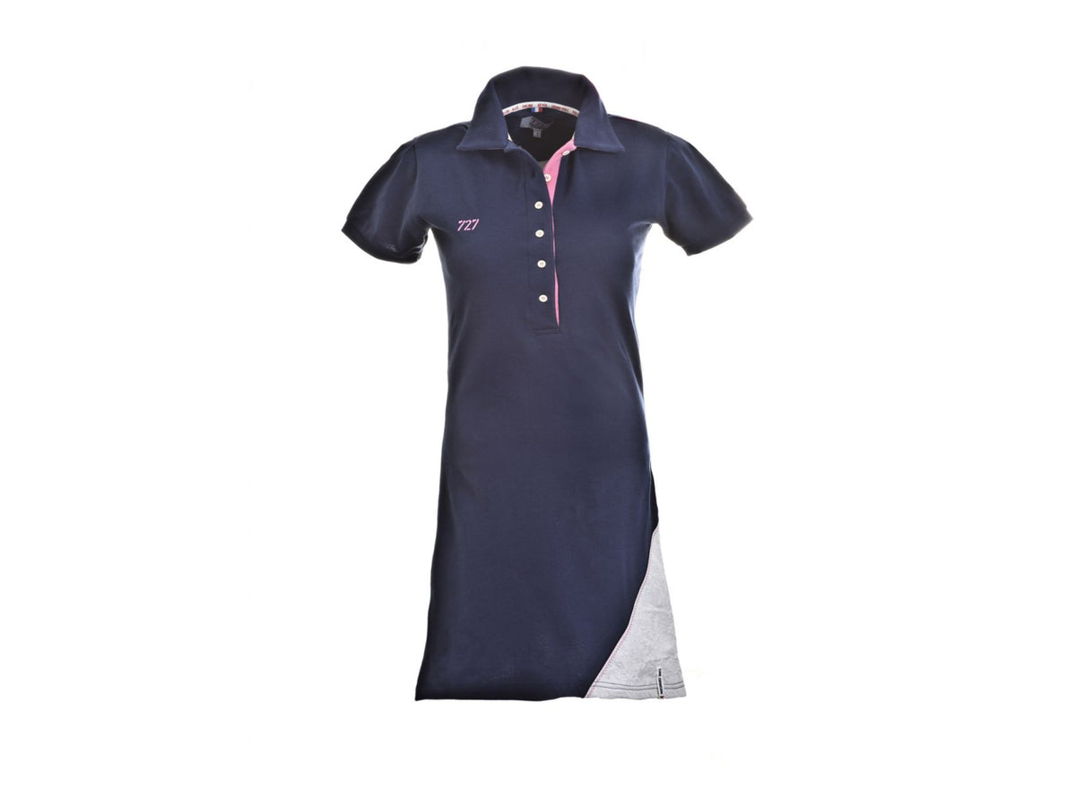 Polo dress with Spinnaker sail (Navy) - Omniyacht®