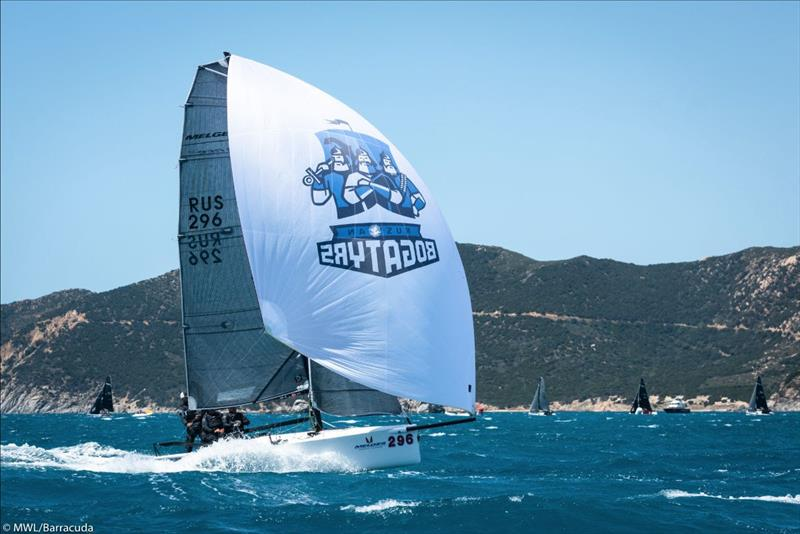 Melges 20 in action,