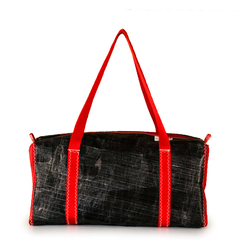 Load image into Gallery viewer, Duffel bag bravo small, 3Di black, red by JM Sails and Bags (FS)