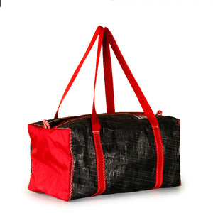 Duffel bag bravo small, 3Di black, red by JM Sails and Bags (45)