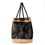 BUCKET BAG CHARLIE, 3Di carbon black and beige by JM Sails and Bags, FS