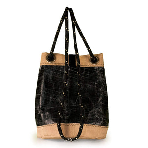BUCKET BAG CHARLIE, 3Di carbon black and beige by JM Sails and Bags, BS