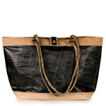Tote bag Delta black and beige (FS) by JM Sails and Bags
